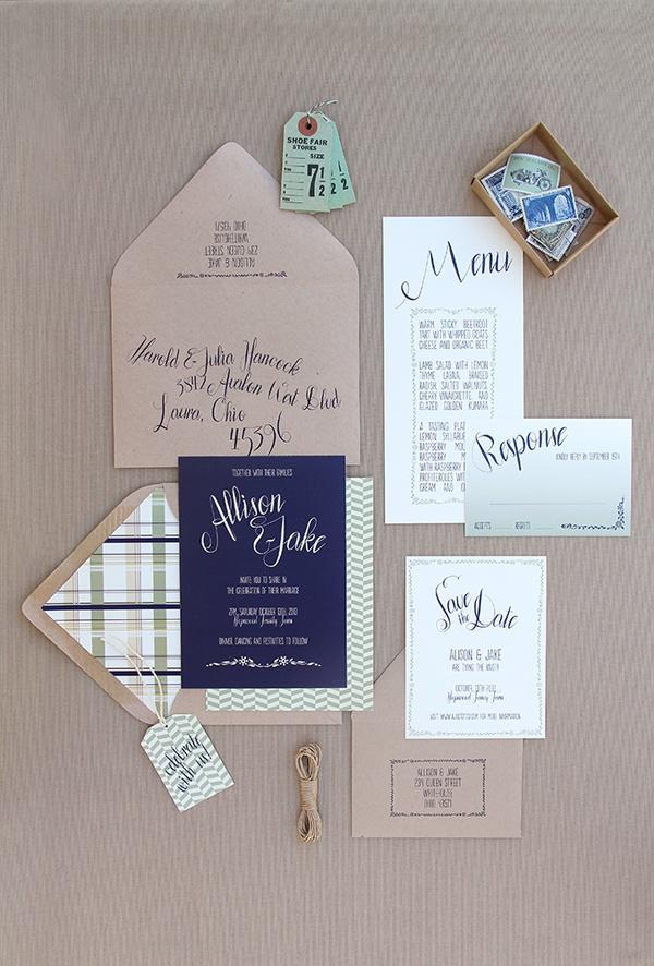 avery address labels wedding invitations%0A Magnolia Rouge  Sage  Navy  u     Plaid Invitation Suite  weddinginvitations   invitaitons  plaid