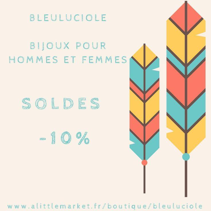 Soldes Janvier -10% Réduction Remise Discount Saint Valentin Bijoux Femmes Bijoux Hommes Fait Mains : Autres bijoux par bleuluciole