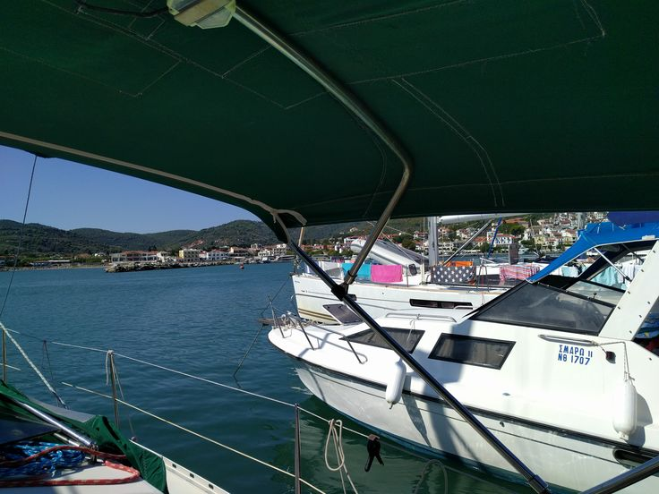 morning view from a small port of Skiathos