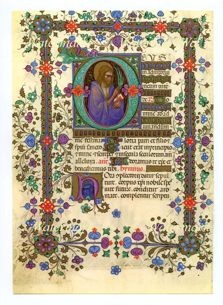 Beautiful illuminated manuscript.