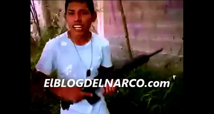 "A video published by El Blog Del Narco shows young men who are purported ""sicarios"" for the Gulft Cartel holding assault weapons."
