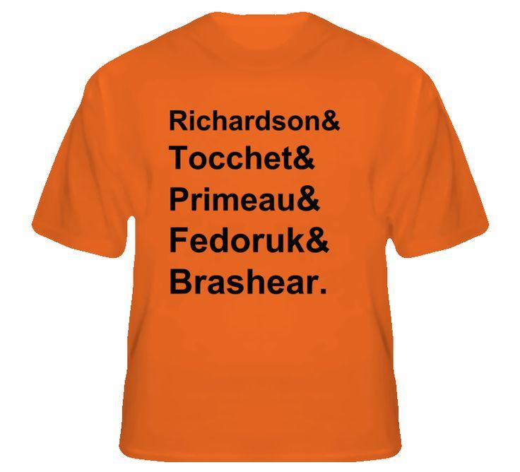 Richardson Tocchet Primeau Fedoruk Brashear 2001 Philadelphia Hockey Goon T Shirt