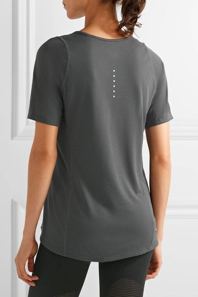 Nike - Zonal Cooling Relay Dri-fit Stretch And Mesh Top - Anthracite