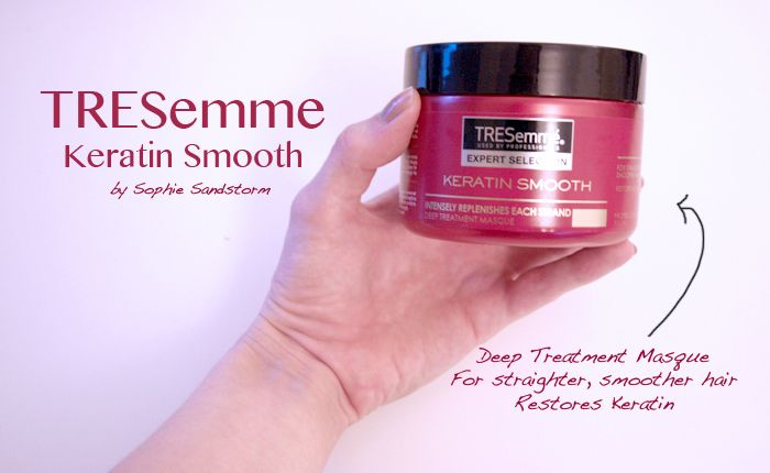 SOPHIE SANDSTORM - Keratin Protein Hair Masque - TRESemme http://sophiesandstorm.blogspot.co.uk/2014/07/tresemme-keratin-shampoo-hair-masque.html #hair #keratin #hairmasque