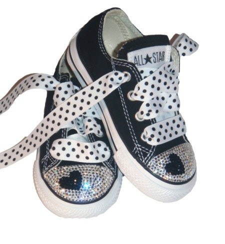 Black Rhinestone Converse October 2017