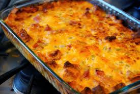 Chicken Strata!  8 Large Potatoes  1/4 Cup Butter 1/2 Cup Sour Cream 1/2 Cup Milk 3 Cups Cubed Cooked Chicken Breast 1/2 Cup Mayo Salt & Pepper To Taste 1/2 Onion Cut Fine 1/2 Cup Celery Cut Fine 1 Can Mushroom Soup 1 Cup Shredded Cheese