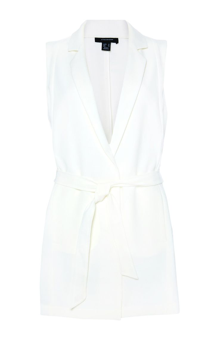 White Crepe Tie Waistcoat For Ladies Is At Primark Now - Primark Online Shop