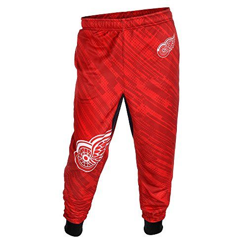 NHL Detroit Red Wings Men's Polyester Jogger Pants, Red, X-Large  http://allstarsportsfan.com/product/chicago-blackhawks-mens-nhl-polyester-jogger-pants/?attribute_pa_color=red&attribute_pa_size=extra-large  100% polyester 100% officially licensed by KLEW Great to wear to the game