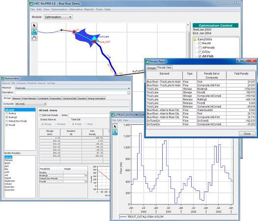 HEC-ResPRM by Hydrologic Engineering Center - HEC-ResPRM is a reservoir system operations optimization software package developed to assist planners, operators, and managers with reservoir operation planning and decision-making. - #reservoir #civilengineering