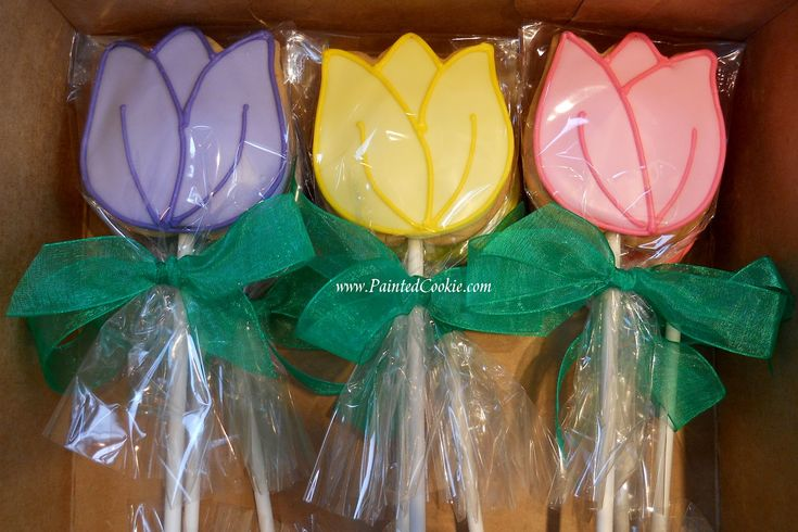 The Painted Cookie: Tulip Cookie Pops