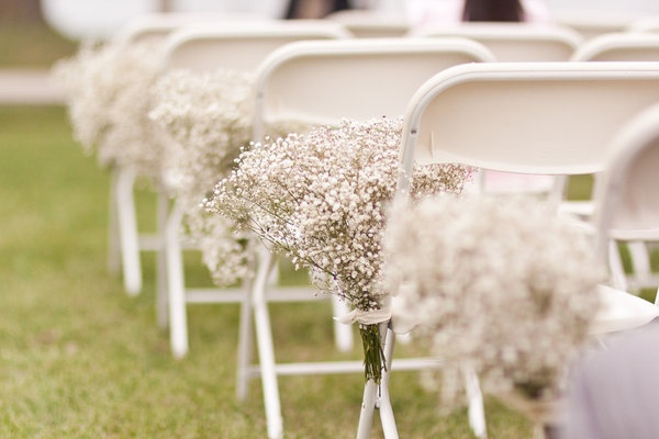 57 best rustic wedding decor images on pinterest weddings rustic simple babys breath for aisle decorationsflowers junglespirit Images