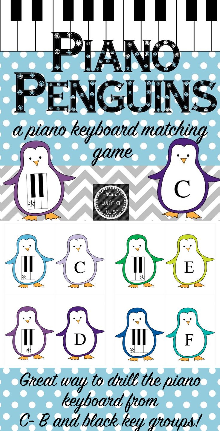 winter music game piano keyboard penguins music lessons. Black Bedroom Furniture Sets. Home Design Ideas