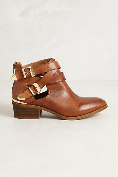 Cross Buckle Bootie | Anthropologie Buckle Ankle Booties are my favorite shoe trend for Fall 2013. Love the sophicated with edge style they give to any outfit.