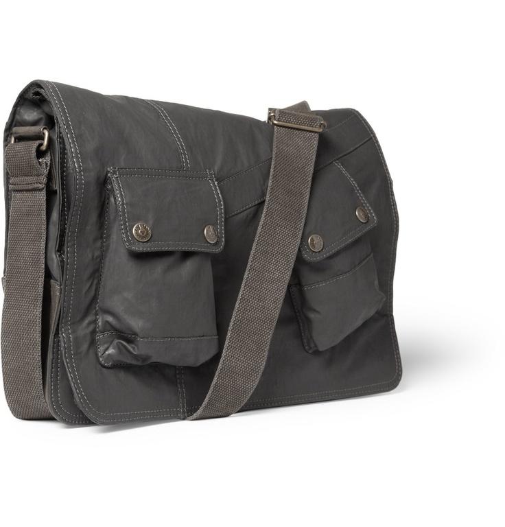 Belstaff  Waxed Cotton Messenger Bag