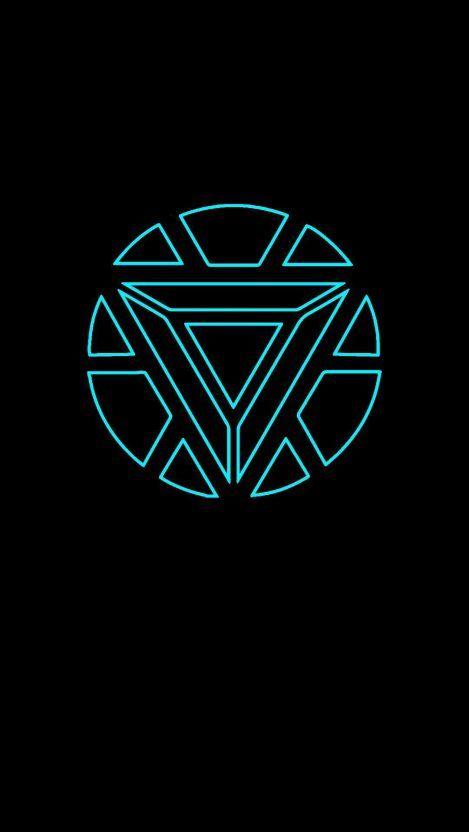Neon Arc Reactor iPhone Wallpaper