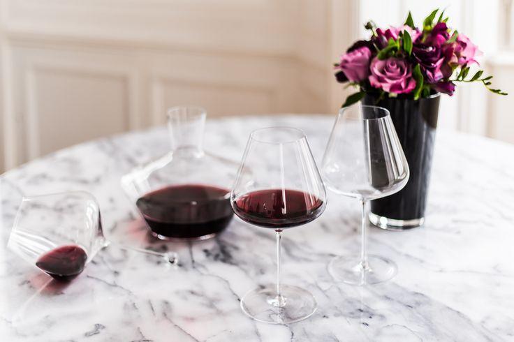 Zalto wine glasses and decanter - available on https://boulesse.com/en/search?q=Zalto