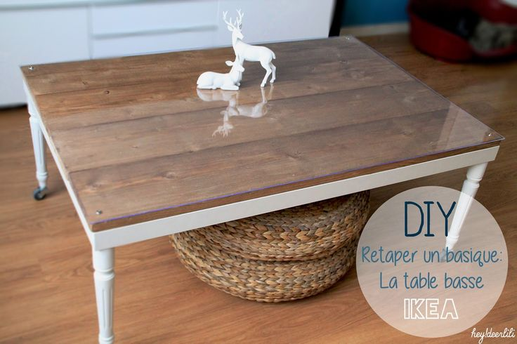 DIY basic table IKEA Retaper un basique: La table basse Ikea by Hey! Deer Lili ( heydeerlili.blogspot.fr )