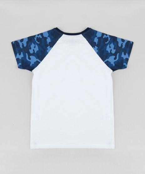 cedcfe995b Camiseta-Infantil-Raglan-Estampada-Camuflada-Manga-Curta-Gola-Careca ...