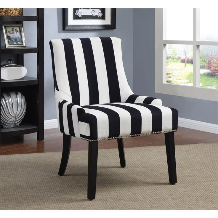 Coaster Armless Upholstered Accent Chair In Black And White   902188