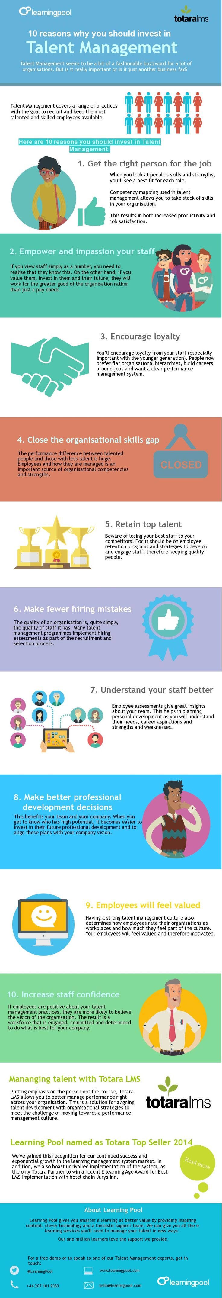 best images about employability emotional why you should invest in talent management infographic elearninginfographics com