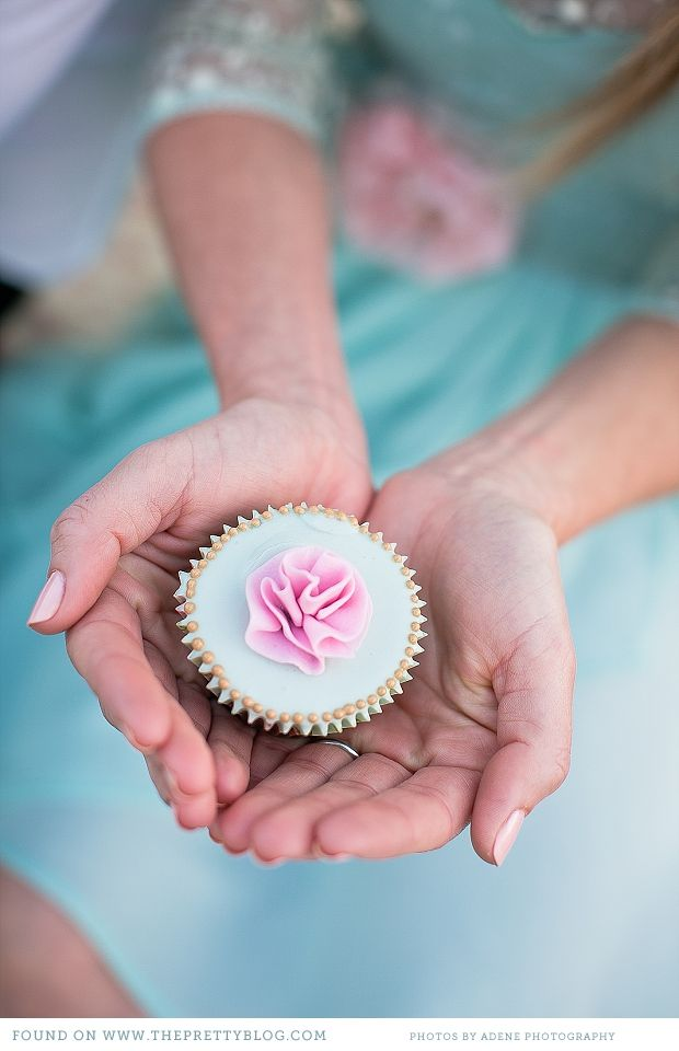 Pink and Duck egg cupcakes. Image: Adene Photography