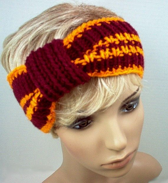 Hand Knit Ear Warmer Headband for fans and cheerleaders! Maroon and Orange - Virginia Tech Hokies by StellasKnitsHands Knits, Knitting Projects, Knits Inspiration, Ears Warmers, Craftsy Members, Virginia Tech, Knits Ears, Projects Inspiration, Knits Projects