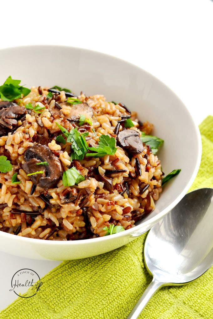 Instant Pot wild rice pilaf is a simple and delicious side dish you are going to love! Wild/ brown rice blend, onion, garlic, mushrooms and veggie stock.
