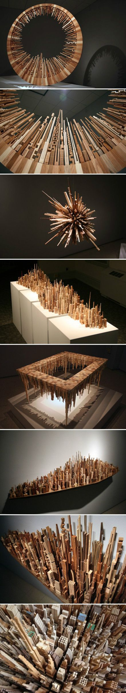 micro-city model by @McNabbDesign (made from recycled wood)