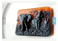 Африканский слон мыло формы силиконовые формы мыло формы свеча формы ручной работы шоколад животное торт отделочных работ