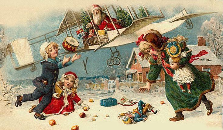 Новогодняя открытка в америке