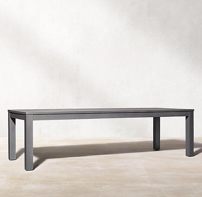 Belvedere Aluminum Rectangular Dining Table With Images