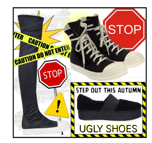 Ugly Shoes! by whirlypath on Polyvore featuring DRKSHDW, Rick Owens and Opening Ceremony