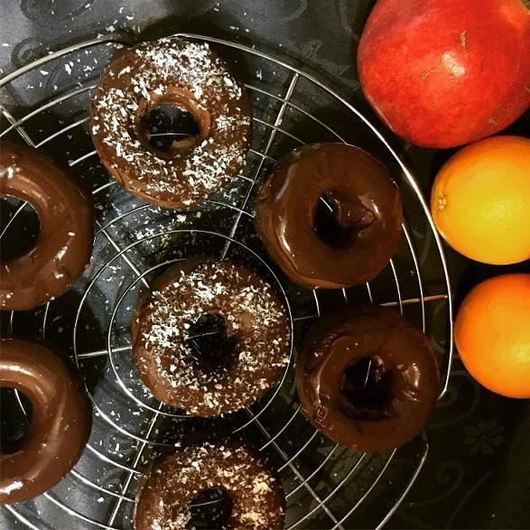 Čokoládové donut s proteinom