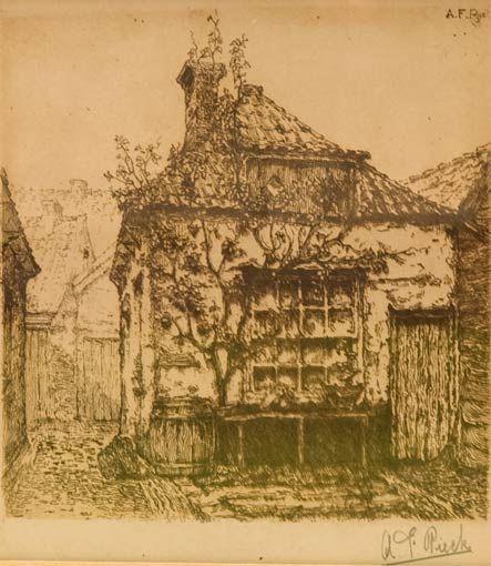 Huisje aan de Vorstraat, Poeldijk door Anton Pieck