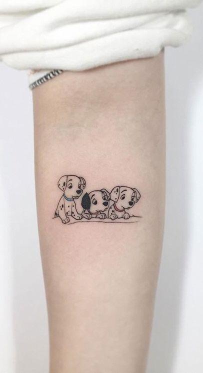 75 Weitere kleine Tattoo-Ideen von Playground Tattoo #disney_tattoo_for_women #tattooideasforwomen