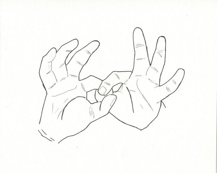 Ilustración de la palabra Gracias en lengua de señas