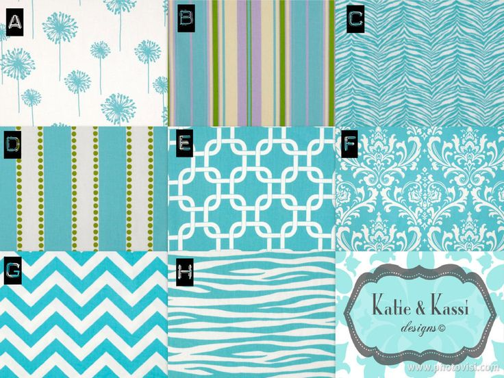 Turquoise/White+Modern+Color+Scheme++by+KATIEandKASSIdesigns,+$190.00
