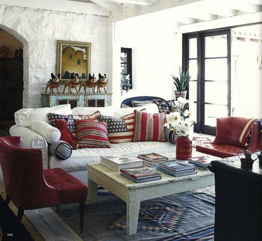LaurieAnnas Farmhouse Living Room Gorgeous See More Red White Blue