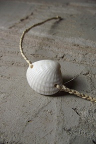 Seashell Crafts | Seashell Crafts Pinterest--This would make a good curtain tie-back