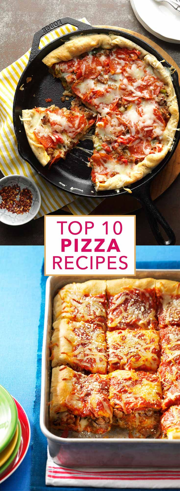 Top 10 Pizza Recipes from Taste of Home