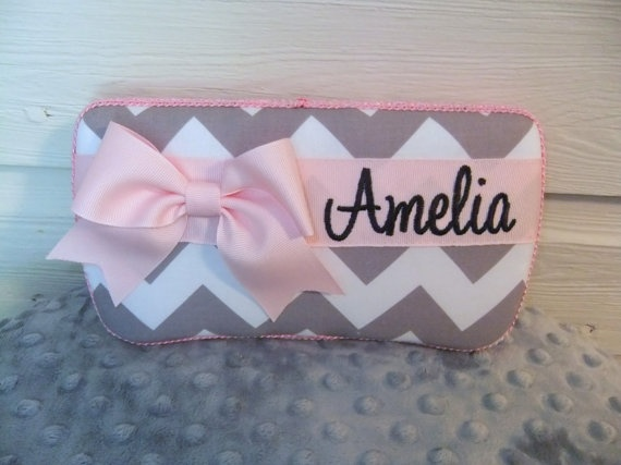 Custom Gray Chevron Diaper Wipes Case You Pick by MsSewItAll32, $12.50