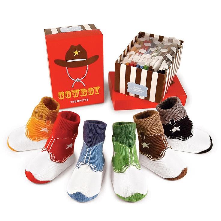 baby cowboy boot socks