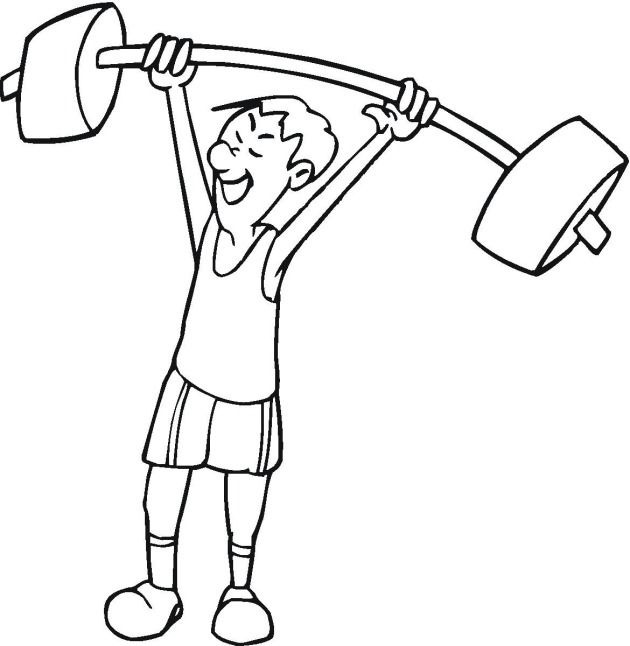 Man With Barbell Weightlifting Coloring Page In 2021 Coloring Pages Sports Coloring Pages Health Motivation Inspiration