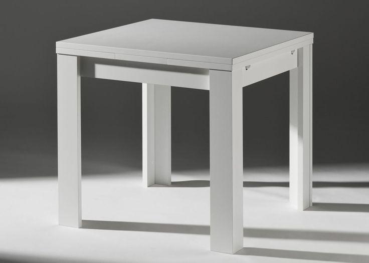 Tisch Esstisch 80 x 80 Holz Weiß ausziehbar 2405. Buy now at https://www.moebel-wohnbar.de/tisch-esstisch-80-x-80-holz-weiss-ausziehbar-2405.html
