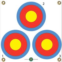 Arrowmat Foam Rubber Target Face - 3 Spot 17''x17'' - Targets-Foam/Paper : ArrowMat : Bowhunters International, Bowhunters Supply Store, Archery Supplies, Archery Equipment, Bowhunting Supplies