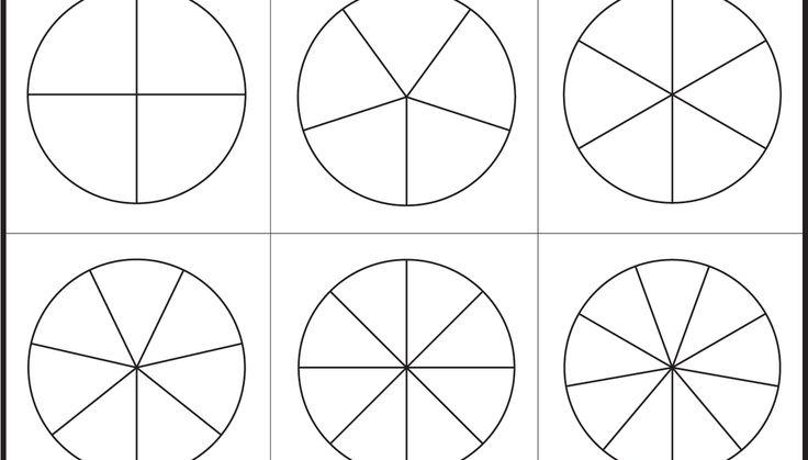 Fraction Circles Template Printable Fraction Circles 1
