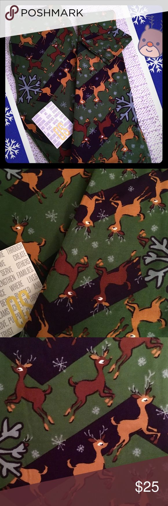 🦌Reindeer! LulaRoe One Size Leggings!🦌 🦌LulaRoe One Size Leggings ~ Reindeer! ~ These bottoms have a green and blue base full of Santa's flying reindeer!🦌 *Cross posted to another site                                                                         All leggings are bought new from consultants and arrive with and without tags. Each pair is inspected and never, ever worn!:-) LuLaRoe Pants Leggings
