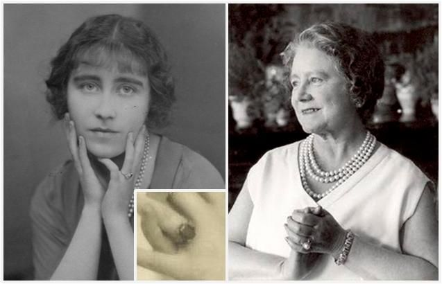 Apparently sapphires were chosen for Elizabeth's engagement ring because they were her favourite stone. Although we know that her original engagement ring was a sapphire and diamond one Queen Elizabeth did start wearing a pearl and diamond ring on her ring finger during the 1950s.
