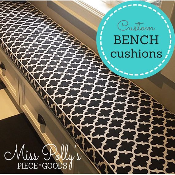 Need a cushion for a bench, swing or window seat? We can custom make cushions in three different styles, according to your measurements. The sizes and styles listed in the drop-down box above are only a handful of the many options available for your custom cushions and pillows. Dont see what you need? Just use the contact button to get in touch. Whatever you have in mind, we can probably do! Heres a glossary of Cushion Style Options: * Stuffed and Tufted cushions - Machine tufted witho...