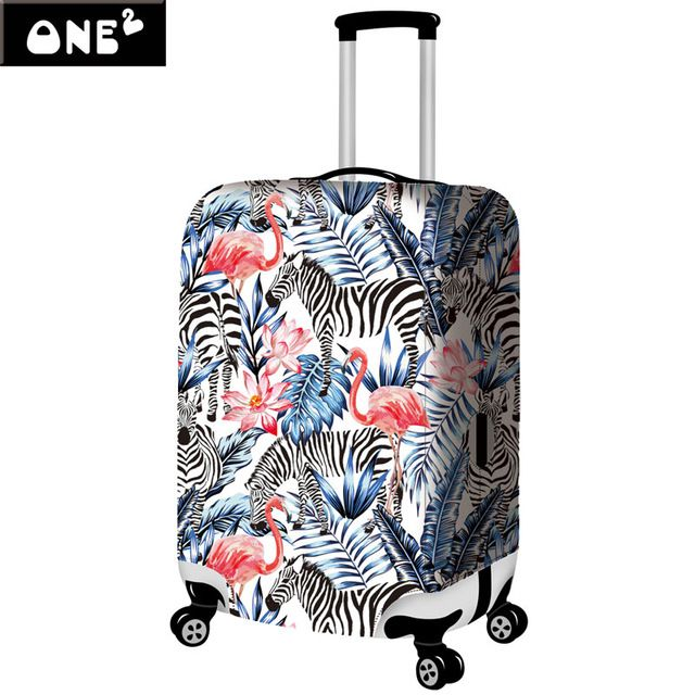 3D Zebra Portable Elastic Travel Luggage Cover Stretch Protect Suitcase Cover Apply to 22-26 Inch Case Luggage Covers